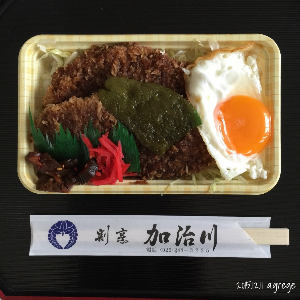 割烹加治川さんのソースひれかつ弁当